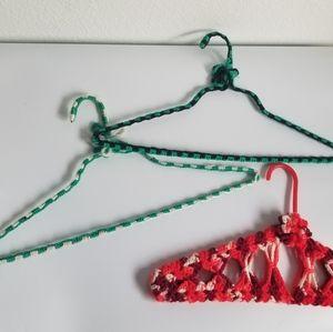 homemade Storage & Organization - 💚3 vintage yard wrapped hangers
